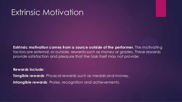 Does motivation come from within a person or is it a result of a situation?