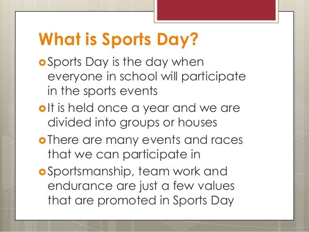 essay writing about sports day School sports day free english essay by arked educational services.