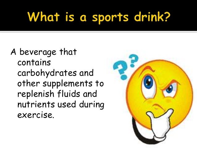 Chemistry glucose and sports drinks
