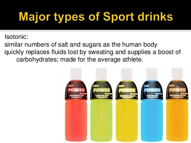 Sports drinks power point (chemistry honors)