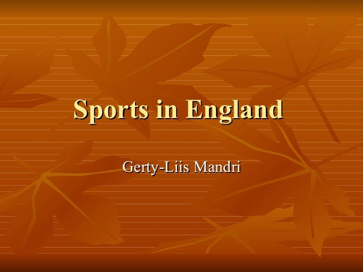 Sports in England
