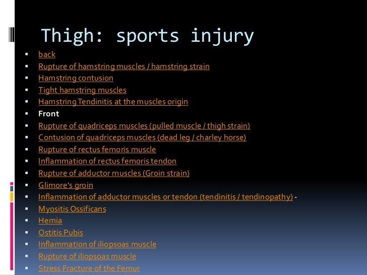 Sports injuryQuadriceps Tendon Pain