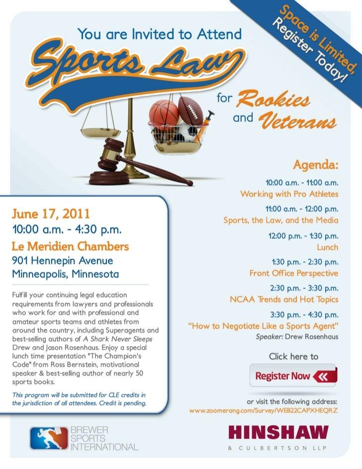 Sports law brochure