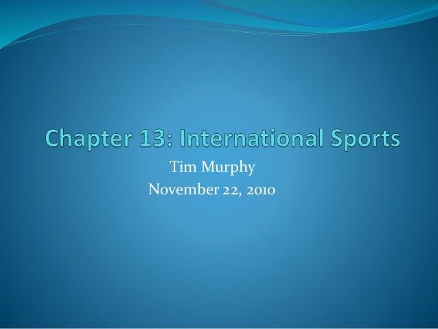 Tim Murphy November 22, 2010