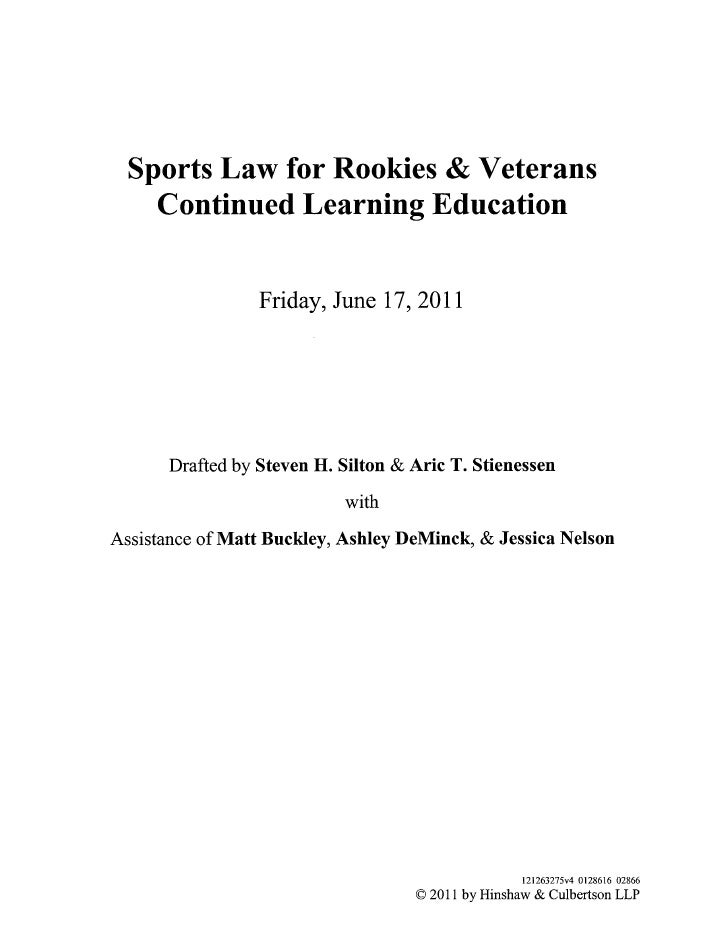 Sports law outline