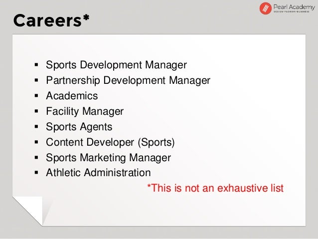 Introducing Sports Management at Pearl Academy