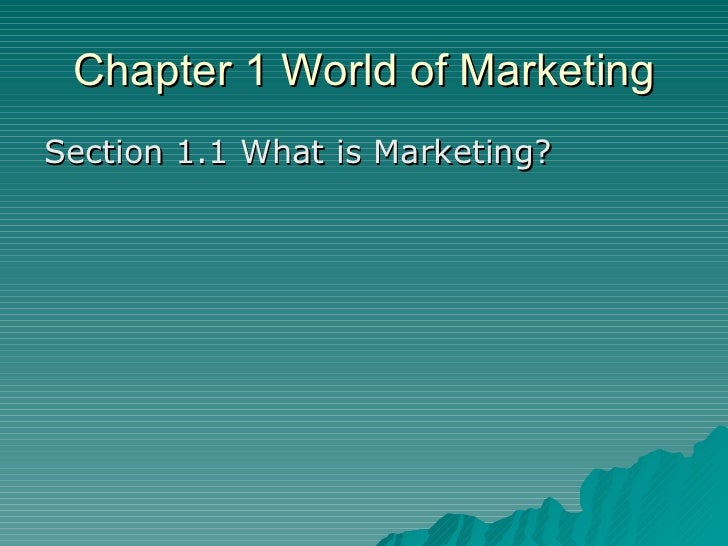 chapter 1 business markets and Market segmentation is the process of dividing a broad consumer or business market,  segmenting business markets is more straightforward than segmenting consumer.