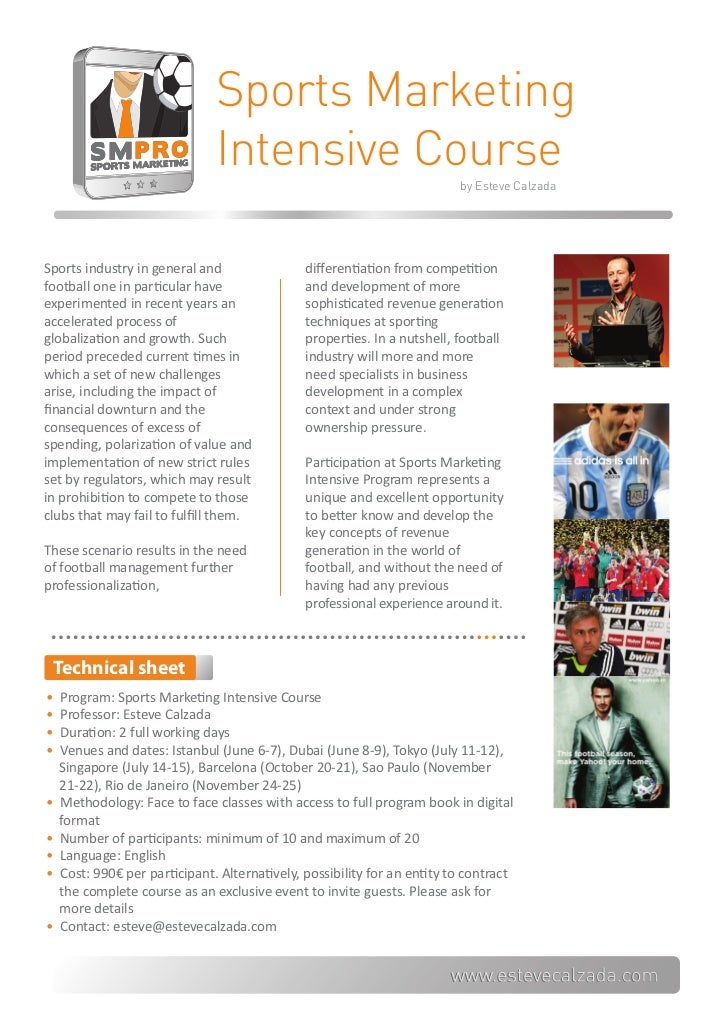 Sports Marketing                               Intensive Course                                                           ...