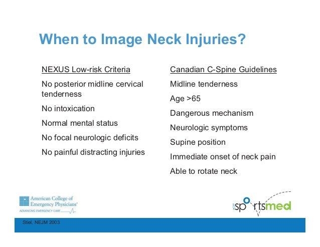 canadian guidelines for cervical spine injury