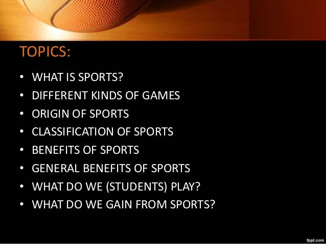 different classification of sports