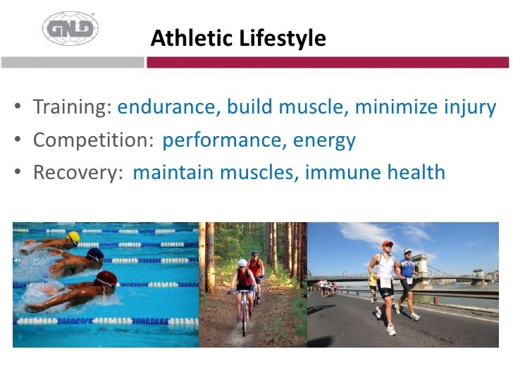 Training: <br />Competition:<br />Recovery:<br />Athletic Lifestyle<br /> endurance, build muscle, minimize injury<br /> ...