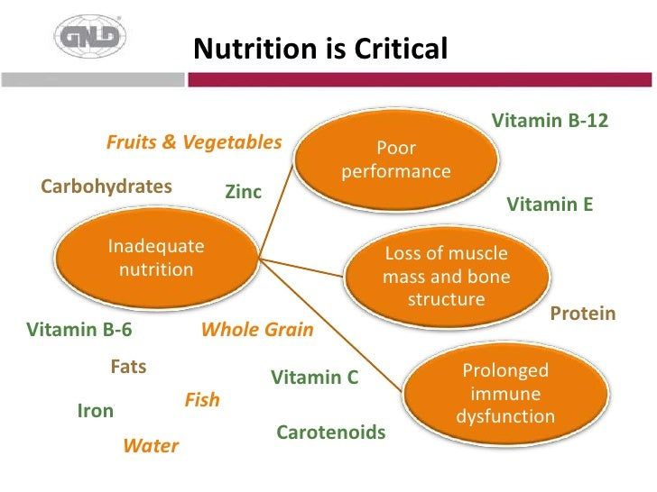 Nutrition is Critical<br />Vitamin B-12<br />Fruits & Vegetables<br />Carbohydrates<br />Zinc<br />VitaminE<br />Protein<b...