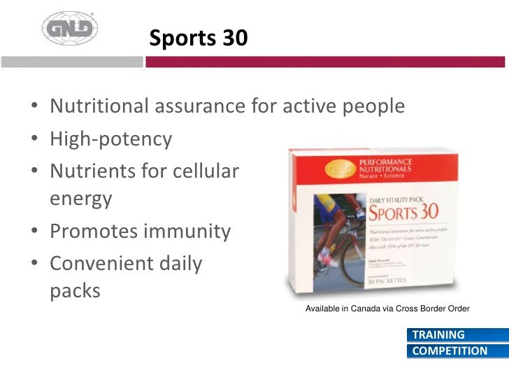 Sports 30<br />Nutritional assurance for active people<br />High-potency<br />Nutrients for cellularenergy<br />Promotes i...