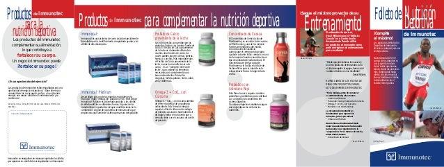 ¿Es un apasionado del ejercicio? Los productos de Immunotec están respaldados por una oportunidad de negocio excepcional. ...