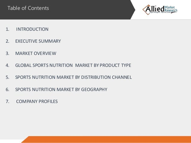 sports nutritional market executive summary Sports nutrition market in us 2016-2020  technavio recognizes the following companies as the key players in the sports nutrition market in the us: bpi sports, clif bar, coca-cola, glanbia, and purus labs  executive summary highlights scope of the report market overview.