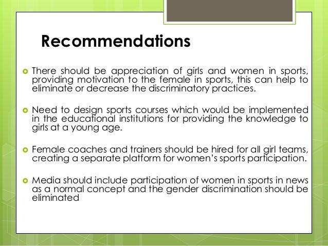 Gender discrimination sports essays