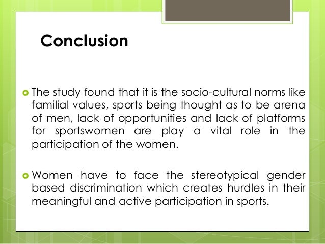 conclusion of women in sports Media framing of female athletes and women's sports in selected sports magazines media framing of female athletes and women's sports in 6 conclusion 74.
