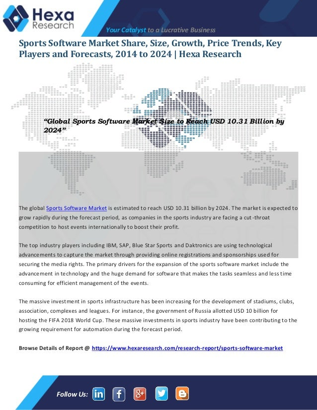 Sports Software Market Shares, Application Analysis and Future Outloo…