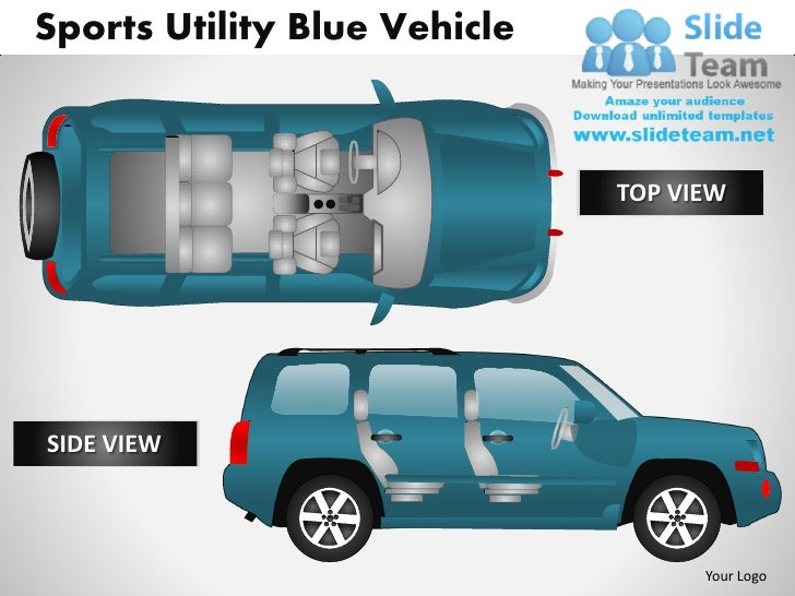 Sports Utility Blue Vehicle                              TOP VIEWSIDE VIEW                                    Your Logo