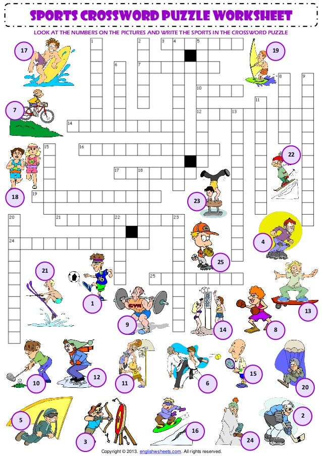 graphic about Sports Crossword Puzzles Printable known as Athletics vocabulary criss cross crossword puzzle worksheet