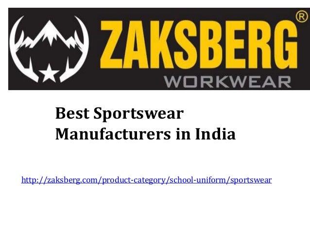 Best Sportswear Manufacturers in India