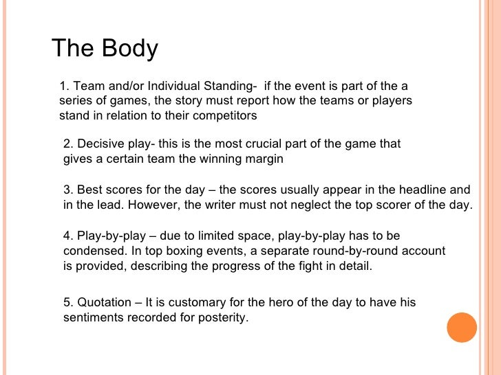 sports narrative essay Sports narrative the story within the game, articles, reviews, sports nostalgia, ice hockey.