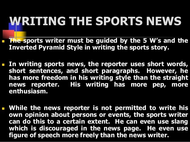 Writing Sports Articles: Tips for Article Writing