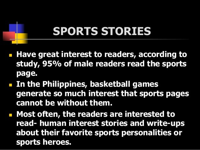 Sports writing Slide 3