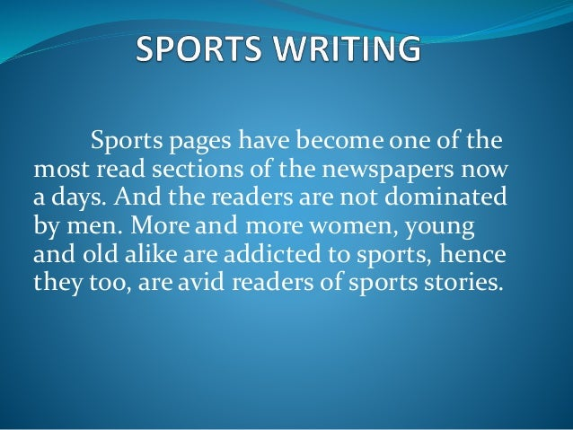 "sports writing In 1981, pulitzer prize-winning journalist david halberstam edited the best american sports writing collection in his introduction, halberstam, who had covered the vietnam war and the civil rights movements and was one of the most profound sports writers of his time, wrote, ""there was an undeclared."