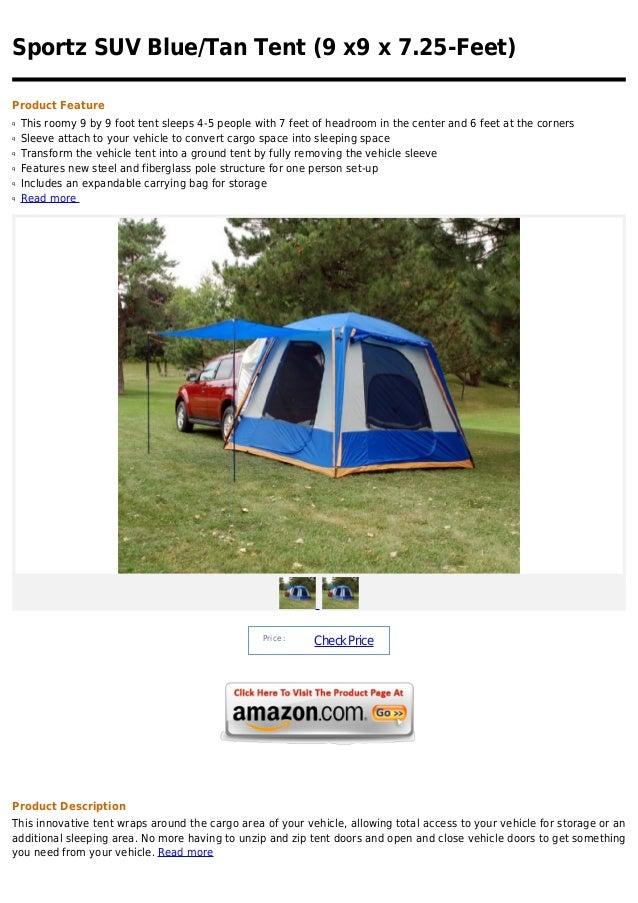 Sportz suv blue tan tent (9 x9 x 7.25 feet)