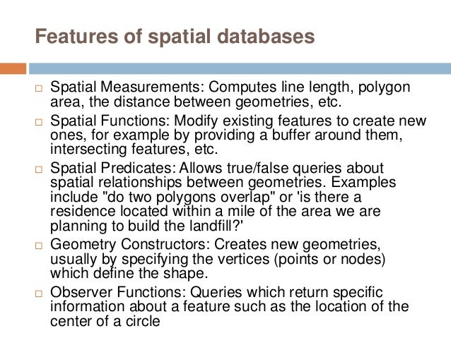 The Spatial RDBMS in the Enterprise