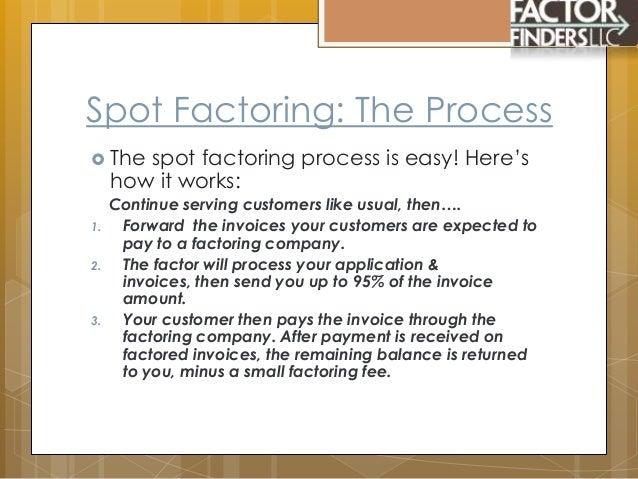 Spot Factoring - Ez invoice factoring