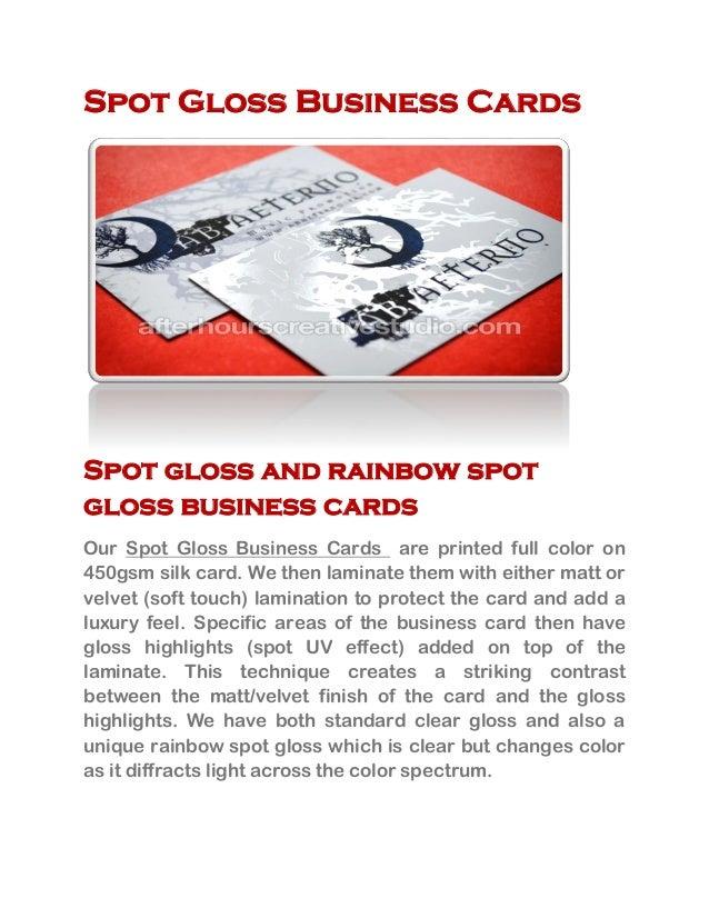 Best Quality Spot Gloss Business Cards online