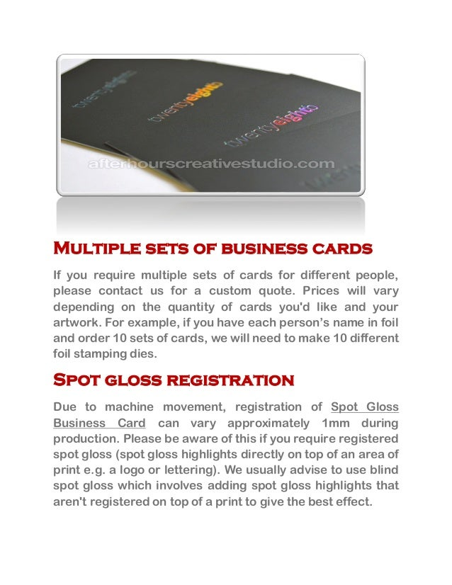 Best quality spot gloss business cards online 2 multiple sets of business cards colourmoves