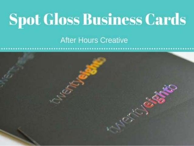 Luxury spot gloss business cards luxury spot gloss business cards httpafterhourscreativestudiobest business card reheart Images