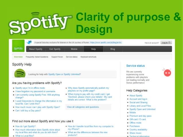Spotify Help Desk
