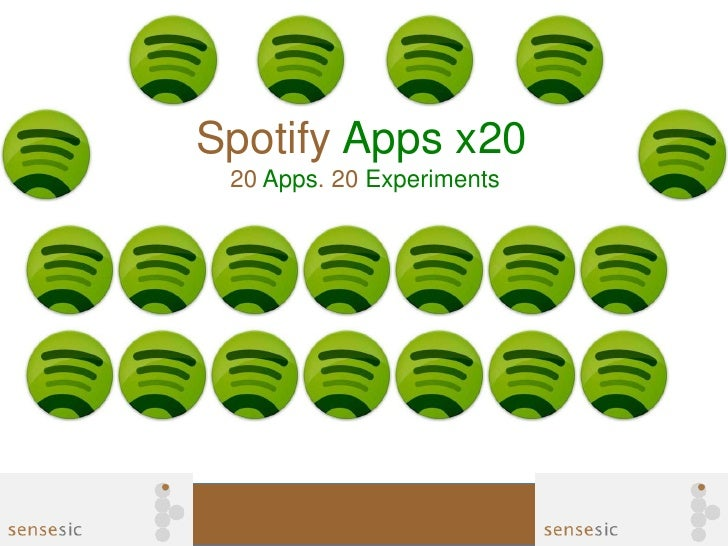 Spotify Apps x20 20 Apps. 20 Experiments