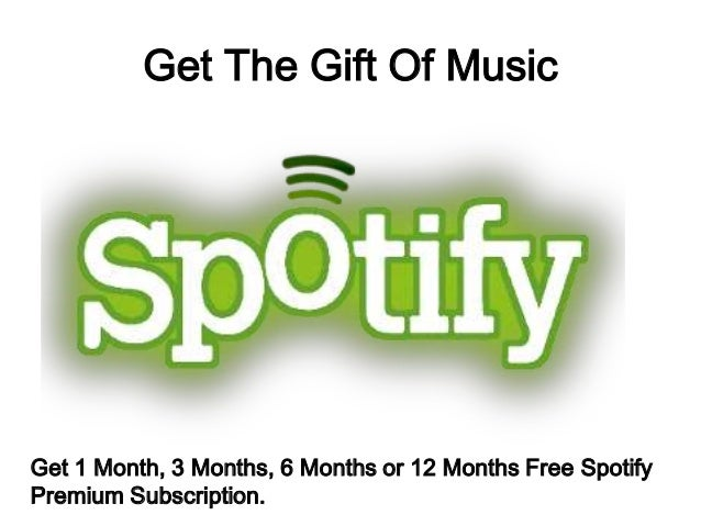 Free Spotify Gift Cards; 3.