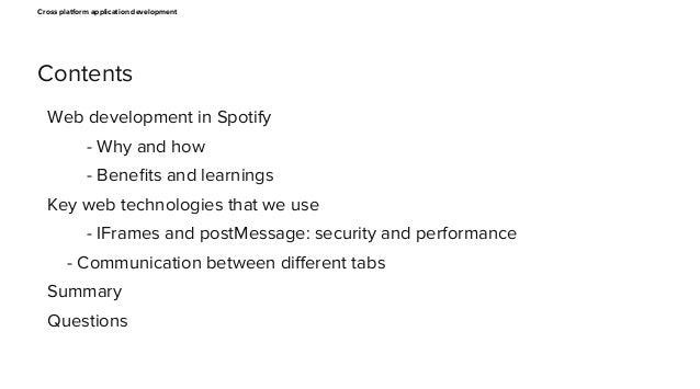 Cross platform web app development Slide 2
