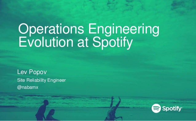 Operations Engineering Evolution at Spotify Lev Popov Site Reliability Engineer @nabamx