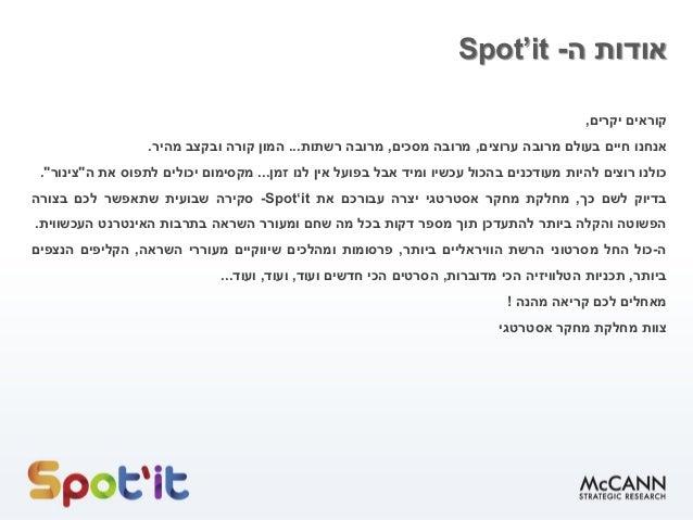 Spot'it- 10.5-14.5 -שבוע שני Slide 2