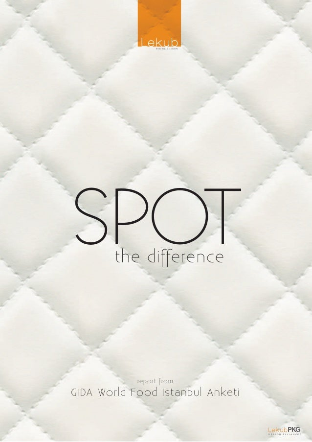 BOUTIQUE DESIGNSPOT    the difference            report fromGIDA World Food Istanbul Anketi                               ...