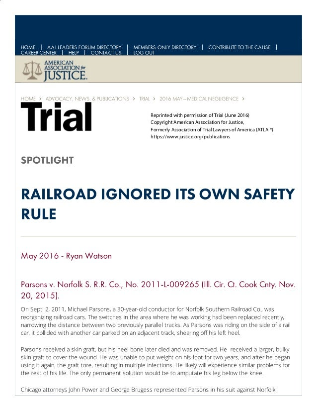 Reprinted with permission of Trial (June 2016) Copyright American Association for Justice, Formerly Association of Trial L...