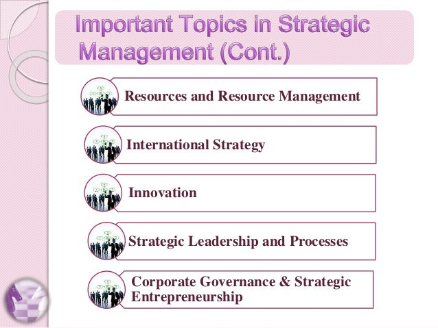 Spotlight on strategic management
