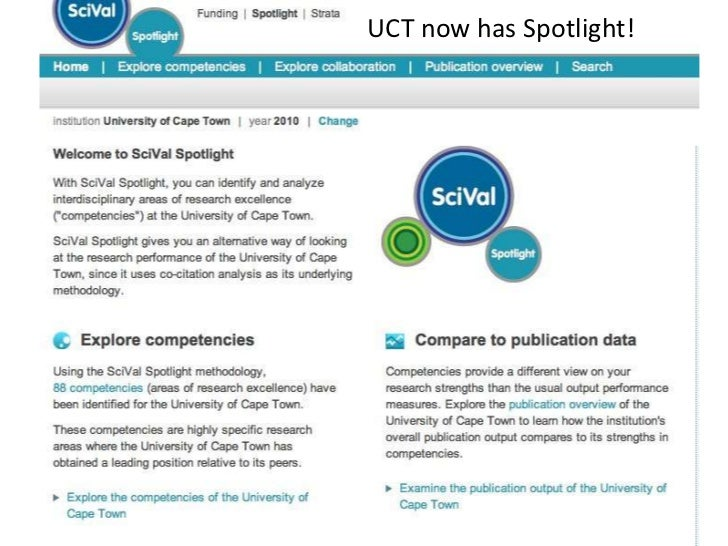 UCT now has Spotlight!