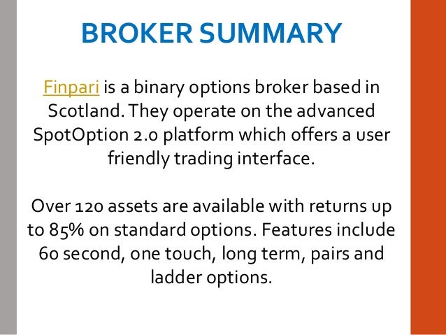 Binary option broker ratings
