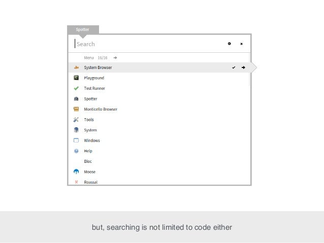 but, searching is not limited to code either
