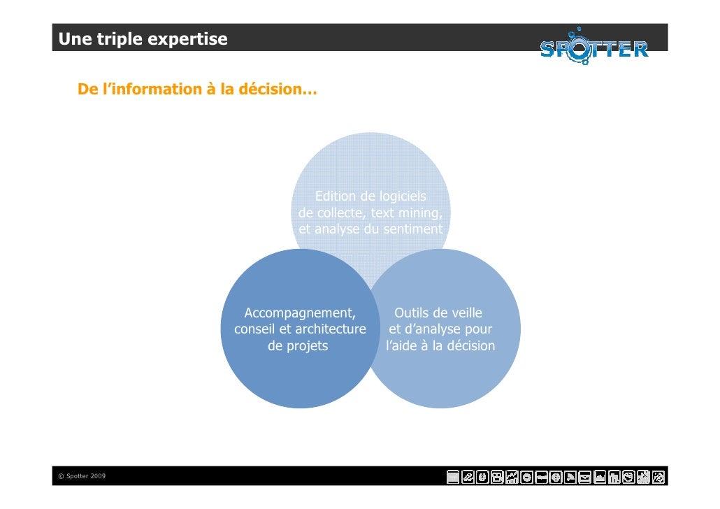 Une triple expertise       De l'information à la décision…                                            Edition de logiciels...