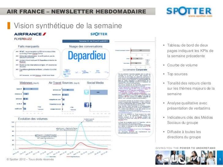 AIR FRANCE – NEWSLETTER HEBDOMADAIRE     Vision synthétique de la semaine                                             Tab...