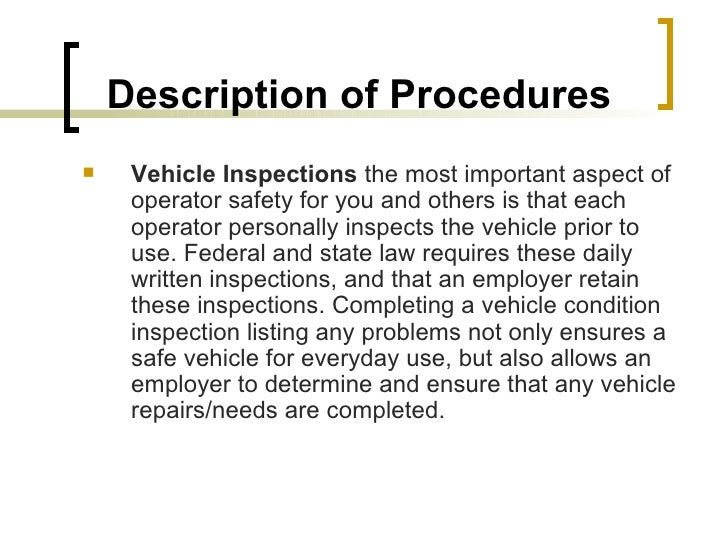 Spotter truck certification for The federal motor vehicle safety standards are written